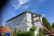 Temporary roof scaffold - Patricia Road, Norwich