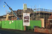 New build site in Norwich.