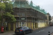 Scaffolding for paintworks, Ipswich